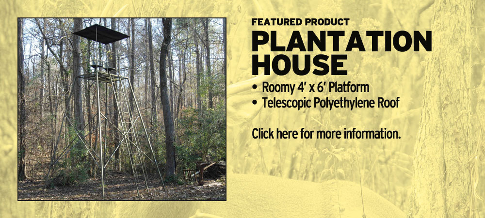 Plantation House | Tree Stands Augusta GA | Aiken SC Hunting Tree Stands