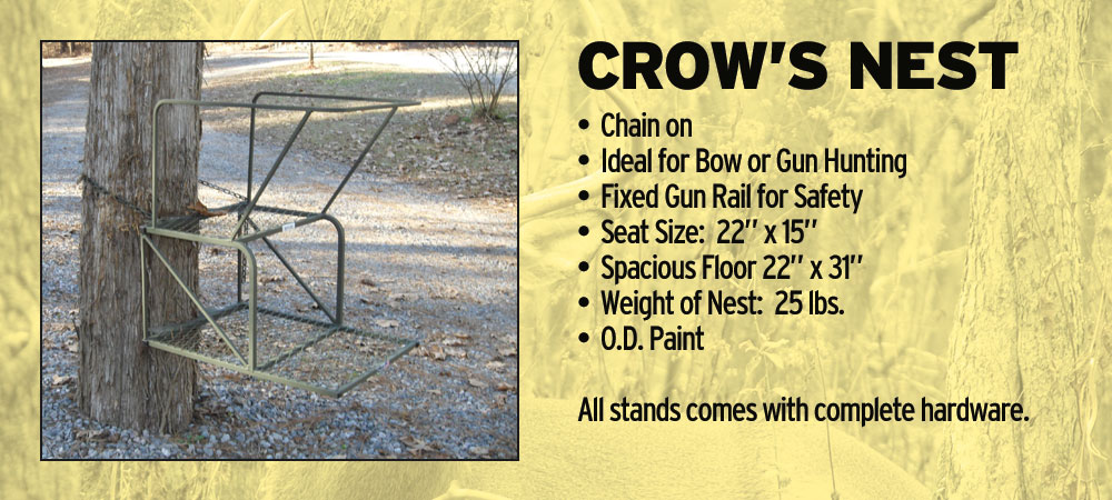 crows nest climbing tree stand | CB's Deer Stands